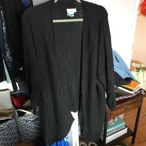 100% cashmere black wrap sweater 14th & Union